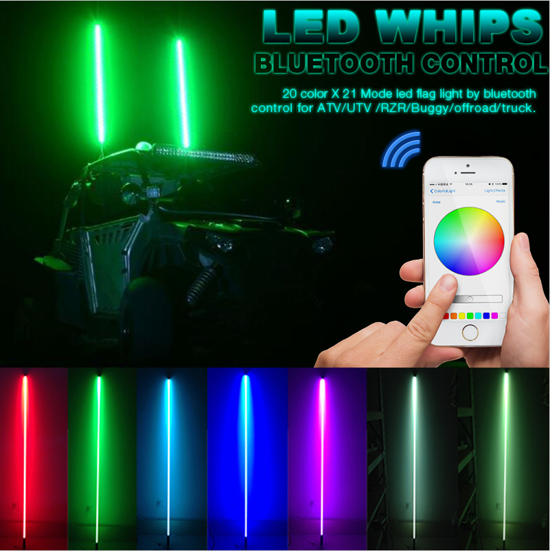 TR804 Bluetooth Control Led Whip(20Color*21Mode)